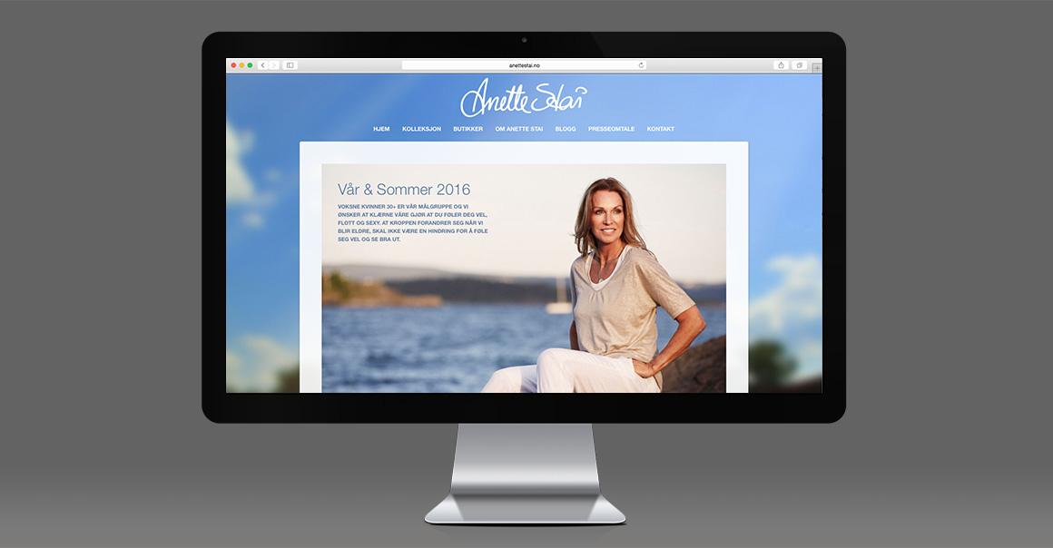 Arbeidsprøve: Nettsiden til Anette Stai – klikk for å gå videre