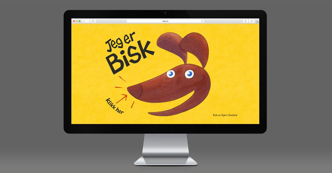 Arbeidsprøve: Nettsiden til Bisk. Klikk for å gå videre.