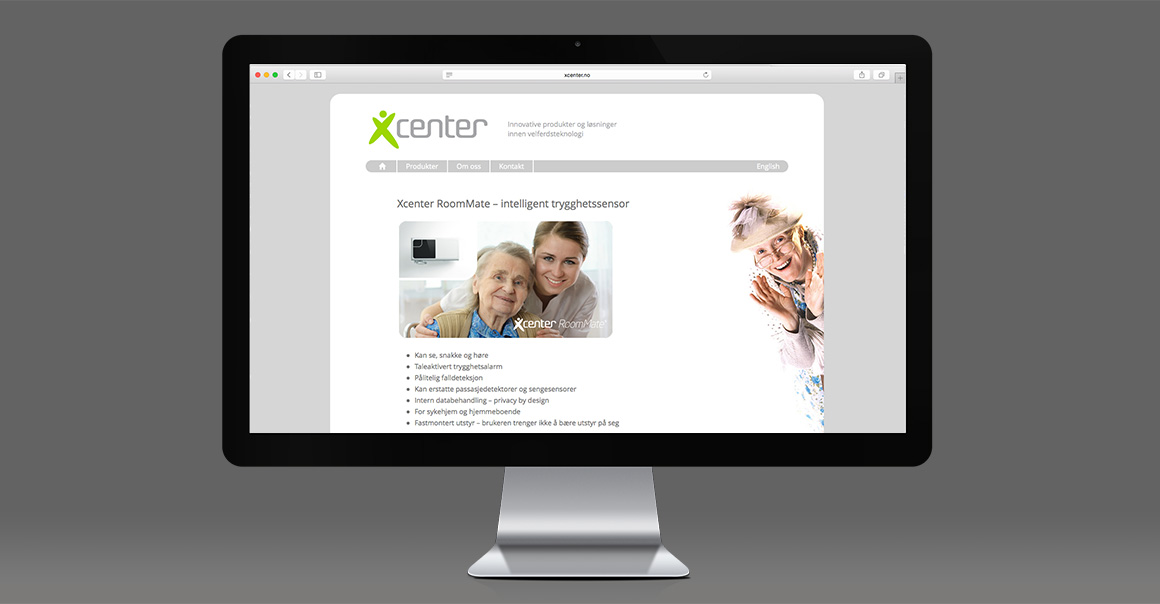 Arbeidsprøve: Nettsiden til Xcenter. Klikk for å gå videre